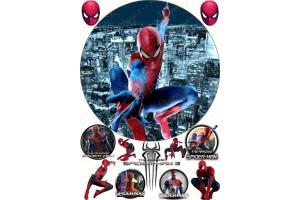 Съедобная картинка Человек Паук Spider man №1