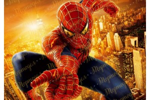 Съедобная картинка Человек Паук Spider man №10
