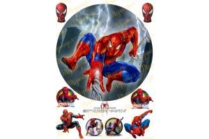 Съедобная картинка Человек Паук Spider man №12