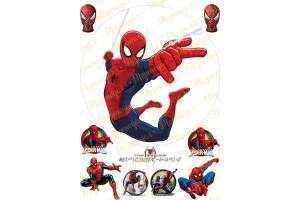 Съедобная картинка Человек Паук Spider man №13