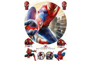 Съедобная картинка Человек Паук Spider man №14