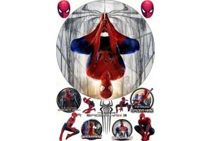 Съедобная картинка Человек Паук Spider man №4