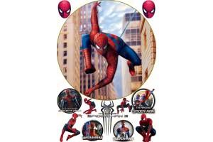 Съедобная картинка Человек Паук Spider man №5