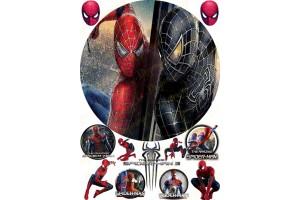 Съедобная картинка Человек Паук Spider man №6