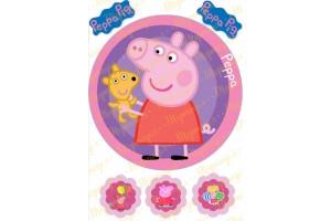 Съедобная картинка Свинка Пепа №14