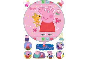 Съедобная картинка Свинка Пепа №3