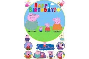 Съедобная картинка Свинка Пепа №4