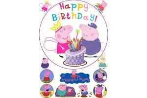 Съедобная картинка Свинка Пепа №6