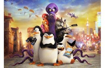 Съедобная картинка Пингвины Мадагаскара № 2