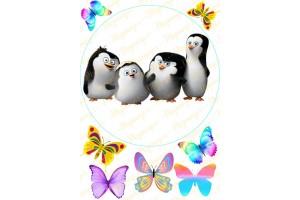 Съедобная картинка Пингвины Мадагаскара № 3