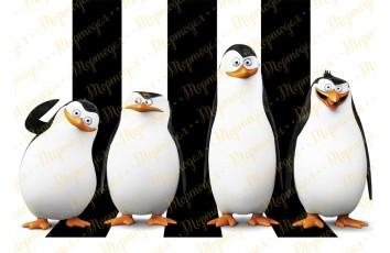 Съедобная картинка Пингвины Мадагаскара № 1