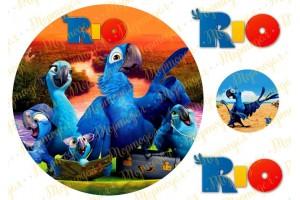 Вафельная картинка Рио №1