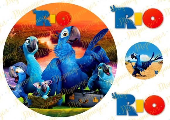 Вафельная картинка Рио №1. Купить вафельную или сахарную картинку Киев и Украина. Цена в интернет магазине Тортодел.