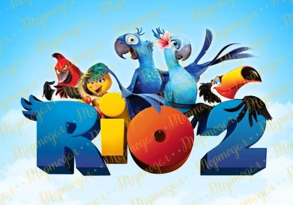 Вафельная картинка Рио №4. Купить вафельную или сахарную картинку Киев и Украина. Цена в интернет магазине Тортодел.