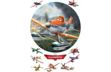 Вафельная картинка Самолёты №1