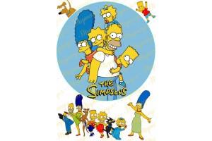 Вафельная картинка Симпсоны №1
