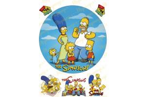 Вафельная картинка Симпсоны №2