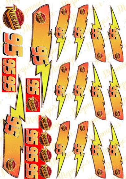 Вафельная картинка Тачки №6. Купить вафельную или сахарную картинку Киев и Украина. Цена в интернет магазине Тортодел.