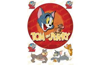 Вафельная картинка Том и Джерри №2