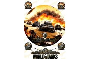 Съедобная картинка World of Tanks №1