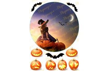 Съедобная картинка Хеллоуин №2