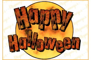 Съедобная картинка Хеллоуин №4