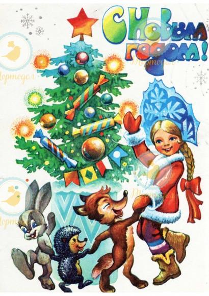 Вафельная картинка Новый год № 22. Купить вафельную или сахарную картинку Киев и Украина. Цена в интернет магазине Тортодел.