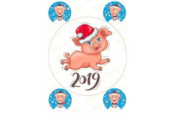Вафельная картинка Новый год № 37