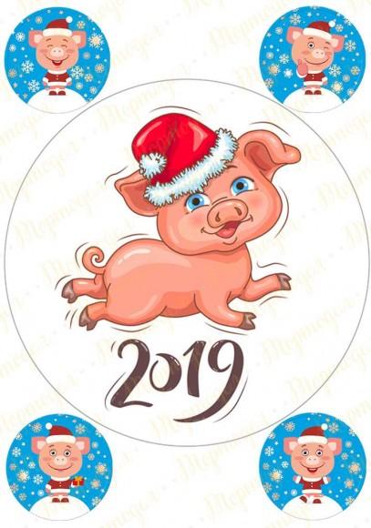Вафельная картинка Новый год № 37. Купить вафельную или сахарную картинку Киев и Украина. Цена в интернет магазине Тортодел.