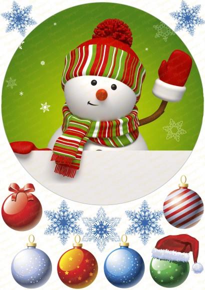 Вафельная картинка Новый год № 11. Купить вафельную или сахарную картинку Киев и Украина. Цена в интернет магазине Тортодел.