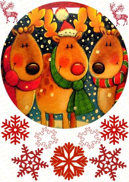 Вафельная картинка Новый год № 14. Купить вафельную или сахарную картинку Киев и Украина. Цена в интернет магазине Тортодел.