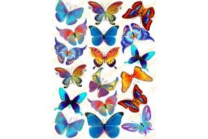 Вафельная картинка Бабочки №10