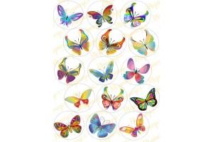 Вафельная картинка Бабочки №12
