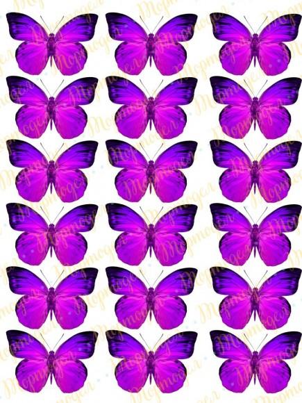 Вафельная картинка Бабочки №2. Купить вафельную или сахарную картинку Киев и Украина. Цена в интернет магазине Тортодел.