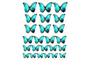 Вафельная картинка Бабочки №3