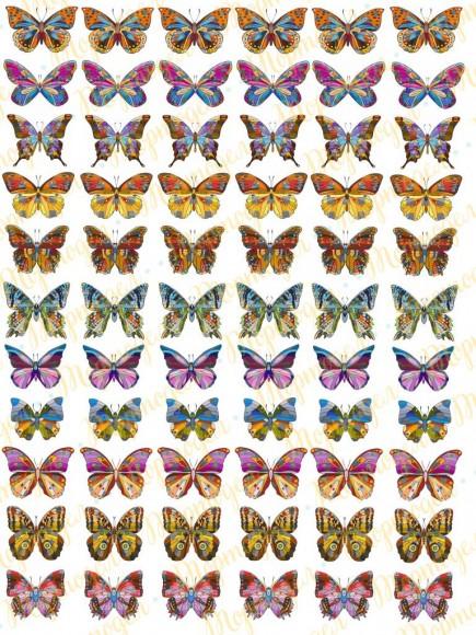 Вафельная картинка Бабочки №6. Купить вафельную или сахарную картинку Киев и Украина. Цена в интернет магазине Тортодел.