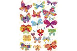 Вафельная картинка Бабочки №7