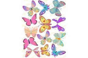 Вафельная картинка Бабочки №8