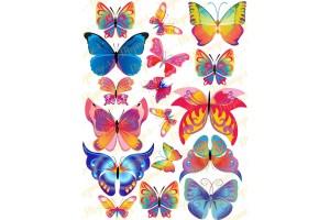 Вафельная картинка Бабочки №9