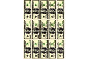 Вафельная картинка Деньги №3