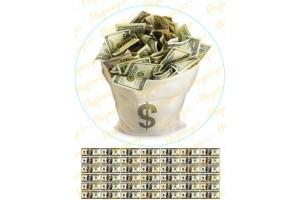 Вафельная картинка Деньги №22