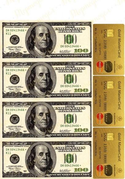 Вафельная картинка Деньги №17. Купить вафельную или сахарную картинку Киев и Украина. Цена в интернет магазине Тортодел.