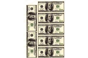 Вафельная картинка Деньги №2