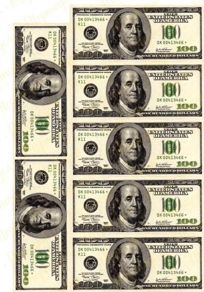 Вафельная картинка Деньги №2. Купить вафельную или сахарную картинку Киев и Украина. Цена в интернет магазине Тортодел.