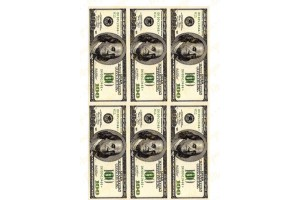 Вафельная картинка Деньги №4
