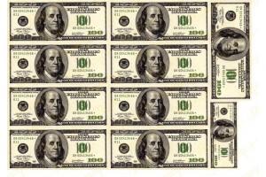Вафельная картинка Деньги №5