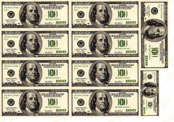 Вафельная картинка Деньги №5. Купить вафельную или сахарную картинку Киев и Украина. Цена в интернет магазине Тортодел.