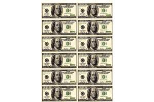 Вафельная картинка Деньги №6