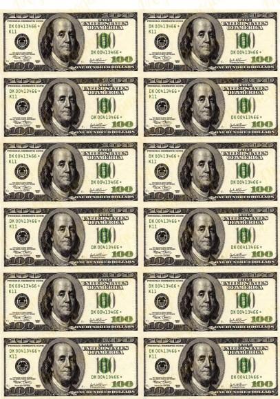 Вафельная картинка Деньги №6. Купить вафельную или сахарную картинку Киев и Украина. Цена в интернет магазине Тортодел.