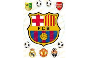 Вафельная картинка Футбол №2